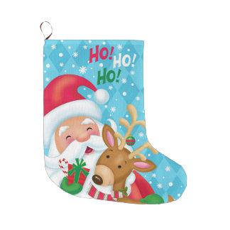HO HO HO Strumpf Großer Weihnachtsstrumpf