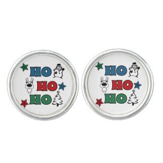 Ho-Ho-Ho Weihnachtsentwurf Manschettenknöpfe