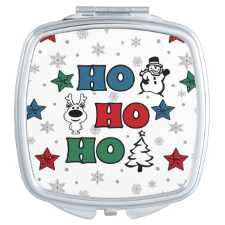 Ho-Ho-Ho Weihnachtsentwurf Taschenspiegel
