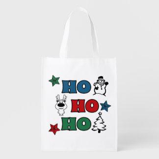 Ho-Ho-Ho Weihnachtsentwurf Wiederverwendbare Einkaufstasche