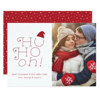 Ho Ho oh Weihnachtsschwangerschafts-Mitteilung Karte