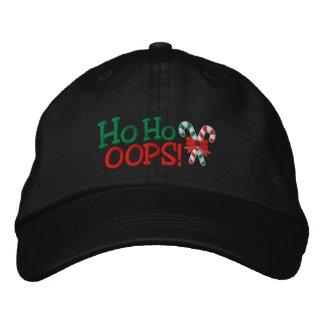 Ho Ho OOPS! Stickerei-Zuckerstangen Bestickte Kappe