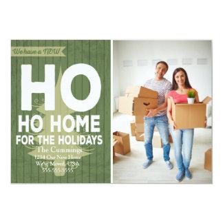 Ho Ho Zuhause für die Feiertage Mitteilung 12,7 X 17,8 Cm Einladungskarte
