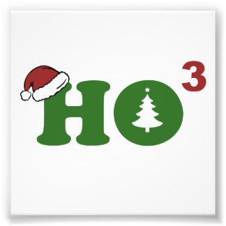 Ho Rauminhalt berechnete frohe Weihnachten Foto Drucke
