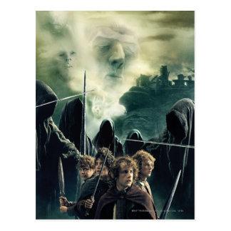 Hobbits bereit zu kämpfen postkarte