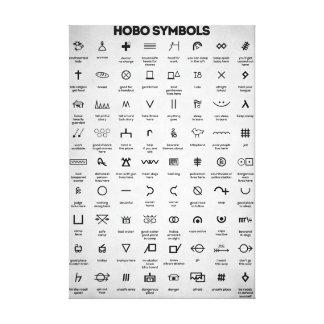 Hobo-Symbole Leinwanddruck