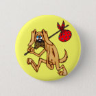 Hobo-wertlosCartoon-Hund Runder Button 5,7 Cm