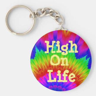 Hoch auf dem Leben lehnen Drogenkampagne Schlüsselanhänger