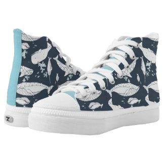 Hoch-Spitze Zipz mit Ozean-Thema durch idyl-wyld Hoch-geschnittene Sneaker