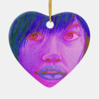 hochauflösend keramik Herz-Ornament