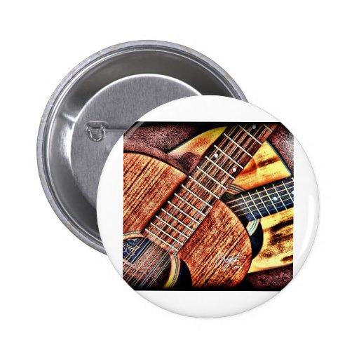 Hochauflösende Gitarren Anstecknadelbutton