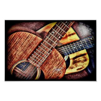 Hochauflösende Gitarren Poster
