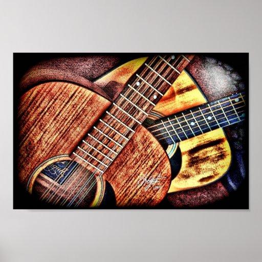 Hochauflösende Gitarren Posterdrucke