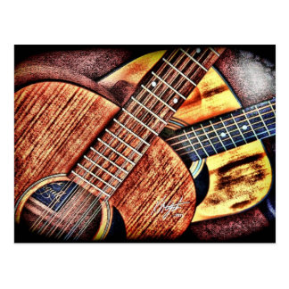 Hochauflösende Gitarren Postkarte