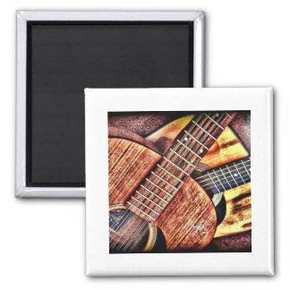 Hochauflösende Gitarren Quadratischer Magnet