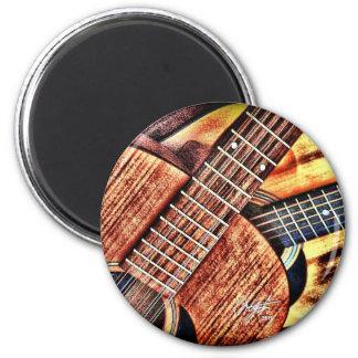 Hochauflösende Gitarren Runder Magnet 5,7 Cm