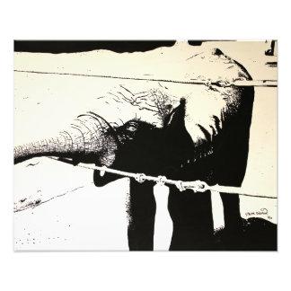 Hochauflösende Malerei des Elefanten Photodruck