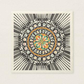 Hochauflösende Mandala Papierserviette