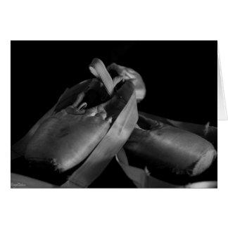Hochauflösende Pointe Schuhe Grußkarte