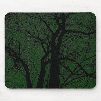 Hochauflösender Baum - dunkelgrün Mauspads