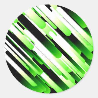 Hochauflösendes Grün Runde Aufkleber