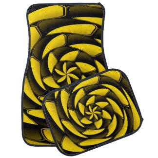 Hochauflösendes Schwarzes und gelb Auto Fussmatte