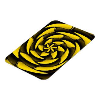 Hochauflösendes Schwarzes und gelb Vinyl Magnet