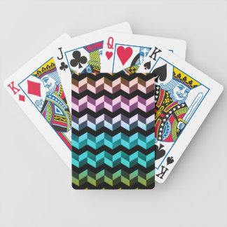Hochauflösendes Zickzack Poker Karten