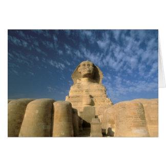 Hochebene Afrikas, Ägypten, Kairo, Giseh. Sphinx Karte