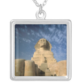 Hochebene Afrikas, Ägypten, Kairo, Giseh. Sphinx Versilberte Kette