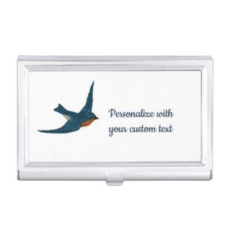 Hochfliegende Drossel des Glück-Gewohnheits-Textes Visitenkarten Dose