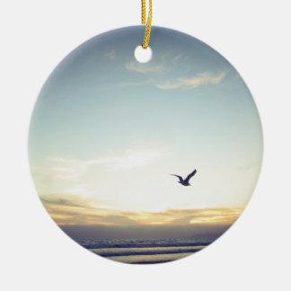 Hochfliegende Seemöwe - Keramik Ornament