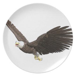 Hochfliegender Weißkopfseeadler Teller