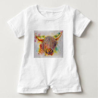 Hochland-Kuh Baby Strampler