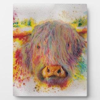 Hochland-Kuh Fotoplatte