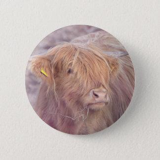 Hochland-Kuh, Hochland-Vieh Runder Button 5,1 Cm