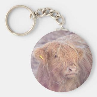 Hochland-Kuh, Hochland-Vieh Standard Runder Schlüsselanhänger