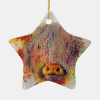 Hochland-Kuh Keramik Ornament