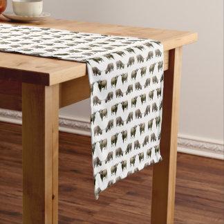 Hochland-Kuh-Raserei-Tabellen-Läufer (wählen Sie Kurzer Tischläufer