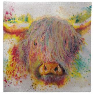 Hochland-Kuh Serviette