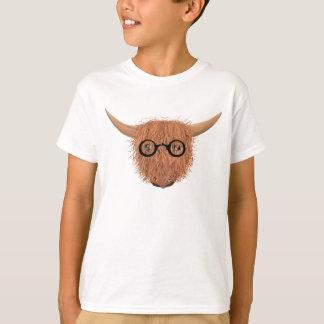 Hochland-Kuh trägt Hippy Spezifikt.-KinderT - T-Shirt