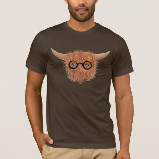 Hochland-Kuh trägt Hippy Spezifikt.-T - Shirt