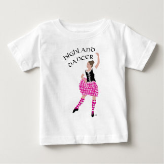 Hochland-Tänzer-Rosa Baby T-shirt