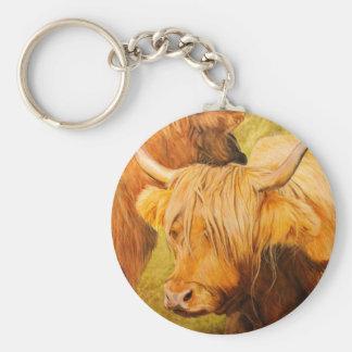 Hochlandkühe, schottisches Vieh Schlüsselanhänger
