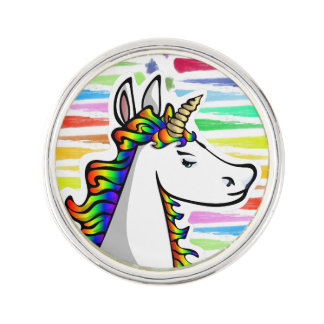 Hochmütiges Unicorn-Regenbogen-Revers-Button Anstecknadel