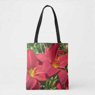 Hochrot beschattet rote TagesTaglilien, Tasche