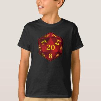 Hochrot und GoldD&D d20 FEUER die T-Shirt