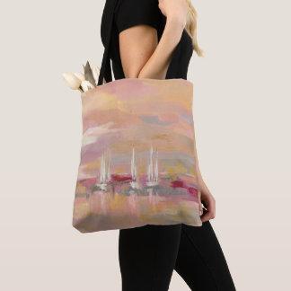 Hochrot-Wellen Tasche