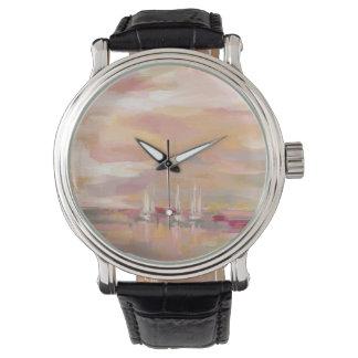 Hochrot-Wellen Uhr
