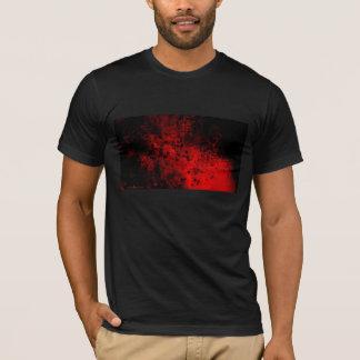 Hochrote kalligraphische Welle T-Shirt